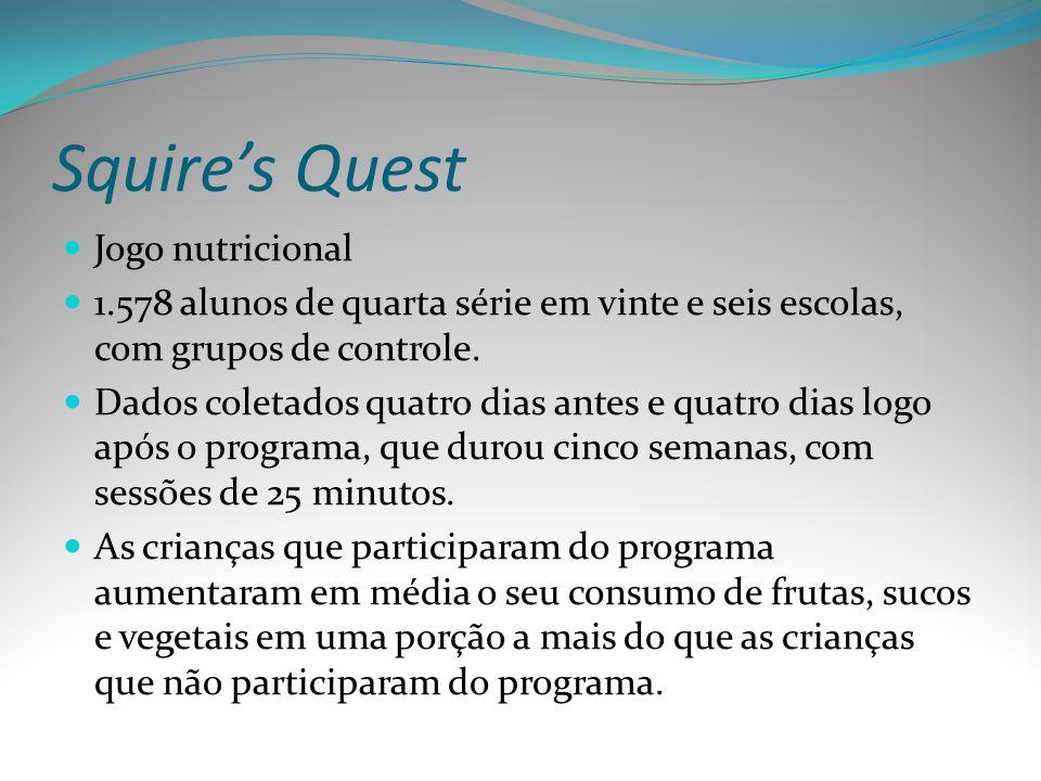 Squire's Quest Jogo nutricional