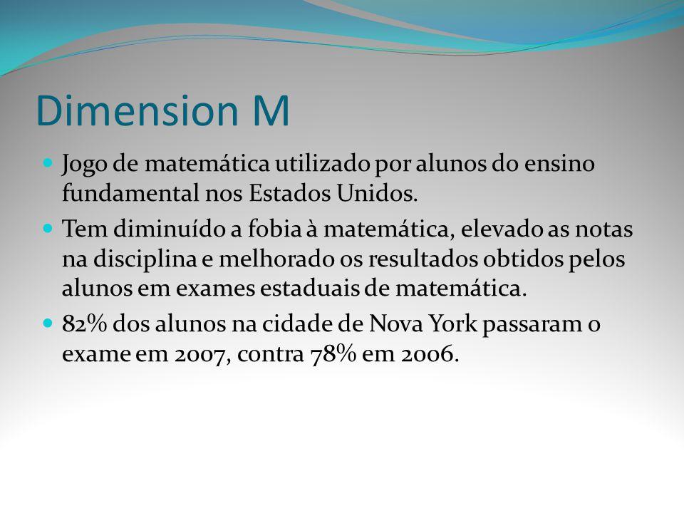 Dimension M Jogo de matemática utilizado por alunos do ensino fundamental nos Estados Unidos.