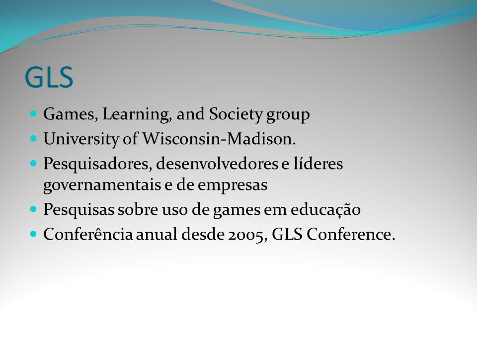 GLS Games, Learning, and Society group