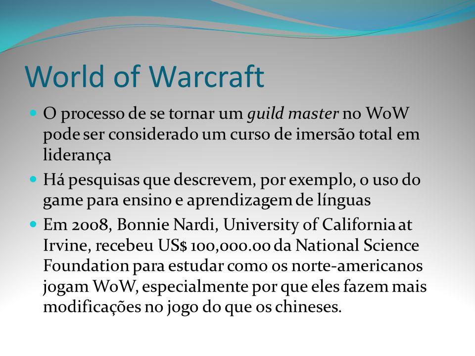 World of Warcraft O processo de se tornar um guild master no WoW pode ser considerado um curso de imersão total em liderança.