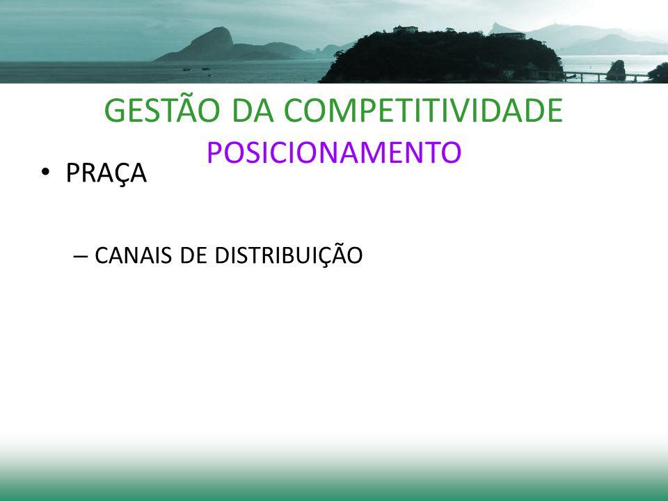 GESTÃO DA COMPETITIVIDADE POSICIONAMENTO