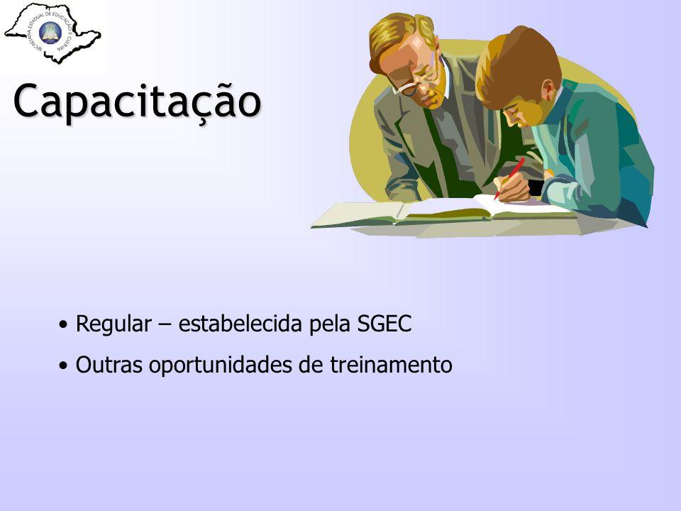 Capacitação Regular – estabelecida pela SGEC