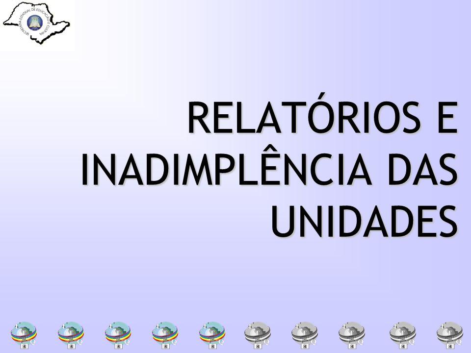 RELATÓRIOS E INADIMPLÊNCIA DAS UNIDADES