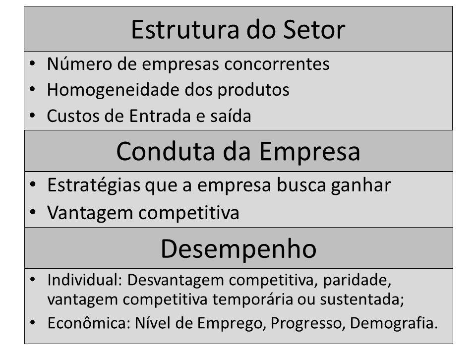 Estrutura do Setor Conduta da Empresa Desempenho