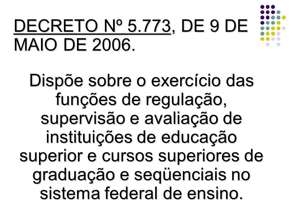 DECRETO Nº 5.773, DE 9 DE MAIO DE 2006.