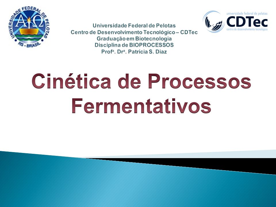 Cinética de Processos Fermentativos