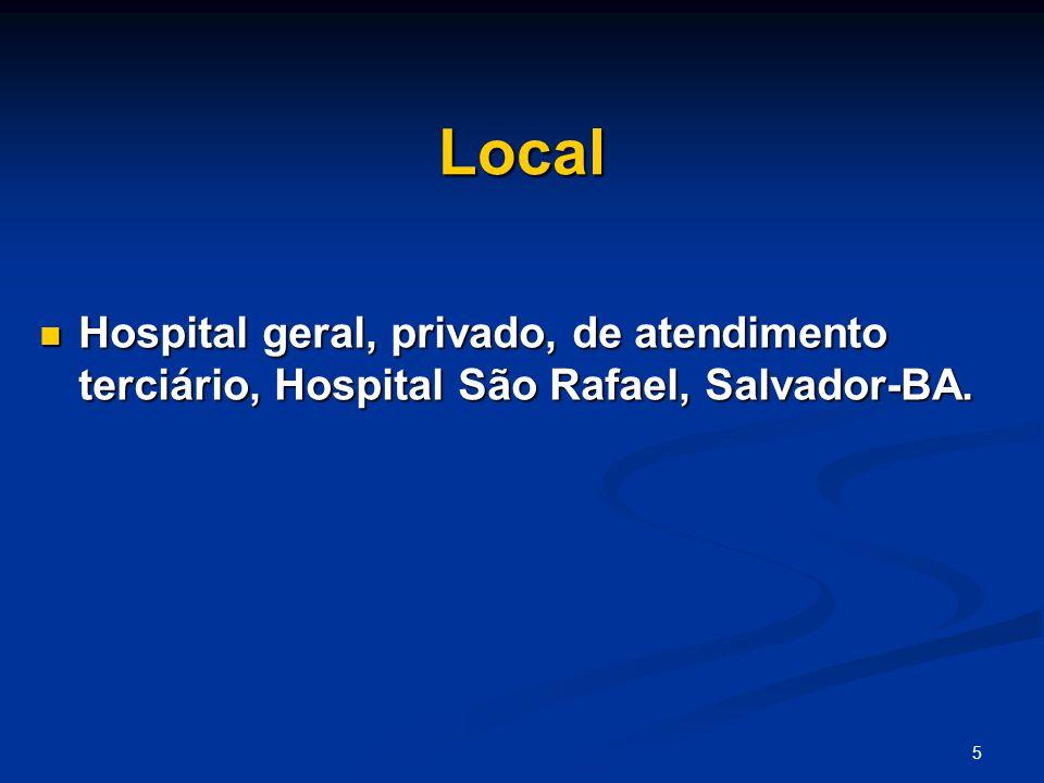 Local Hospital geral, privado, de atendimento terciário, Hospital São Rafael, Salvador-BA.