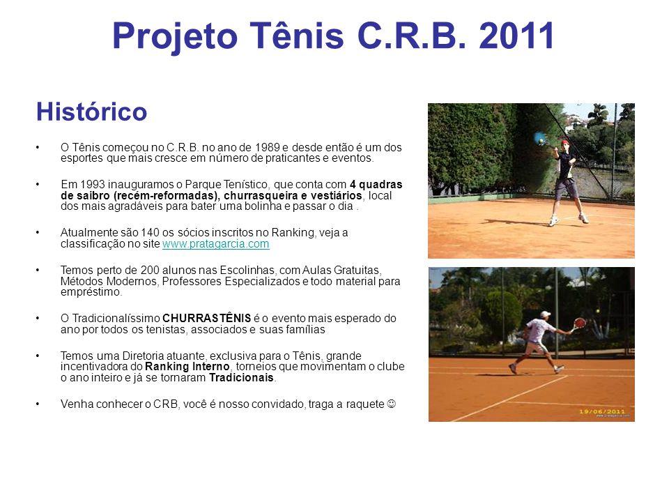 Projeto Tênis C.R.B. 2011 Histórico