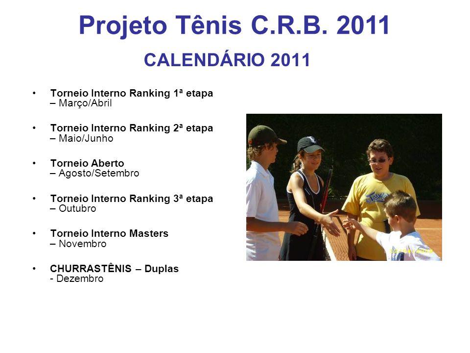 Projeto Tênis C.R.B. 2011 CALENDÁRIO 2011