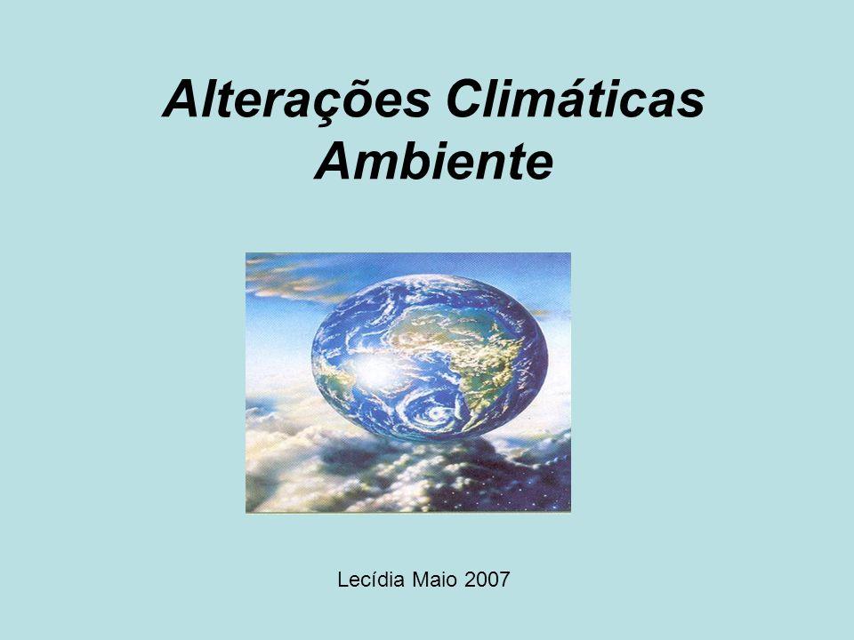 Alterações Climáticas Ambiente