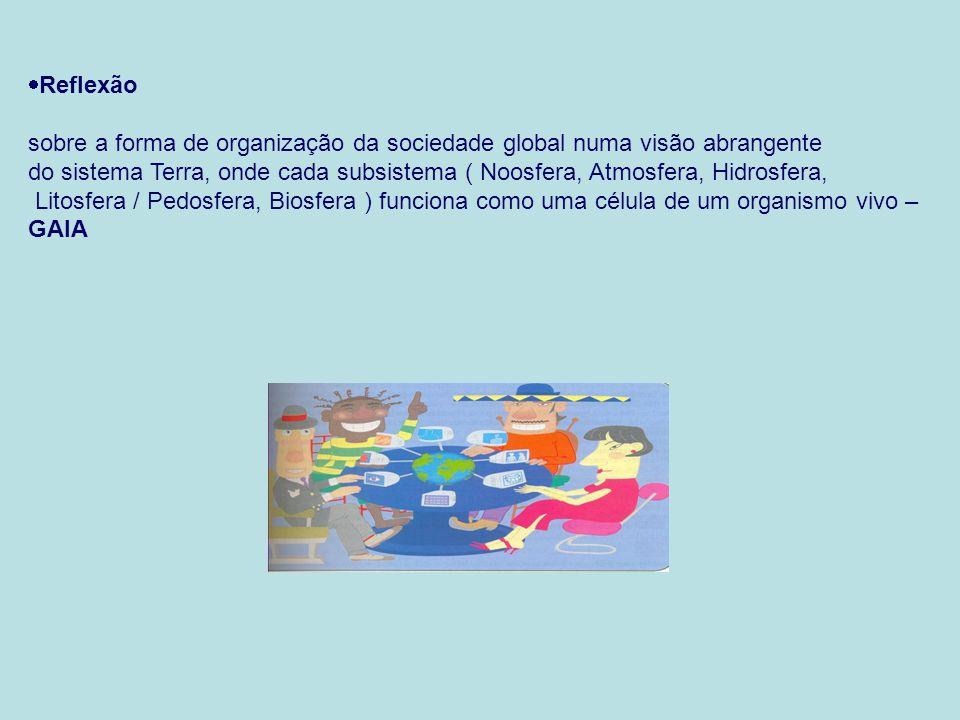 Reflexão sobre a forma de organização da sociedade global numa visão abrangente.