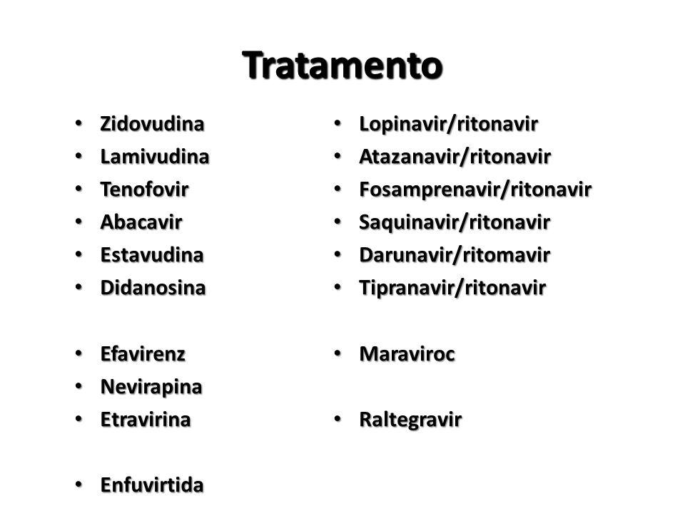 Tratamento Zidovudina Lamivudina Tenofovir Abacavir Estavudina