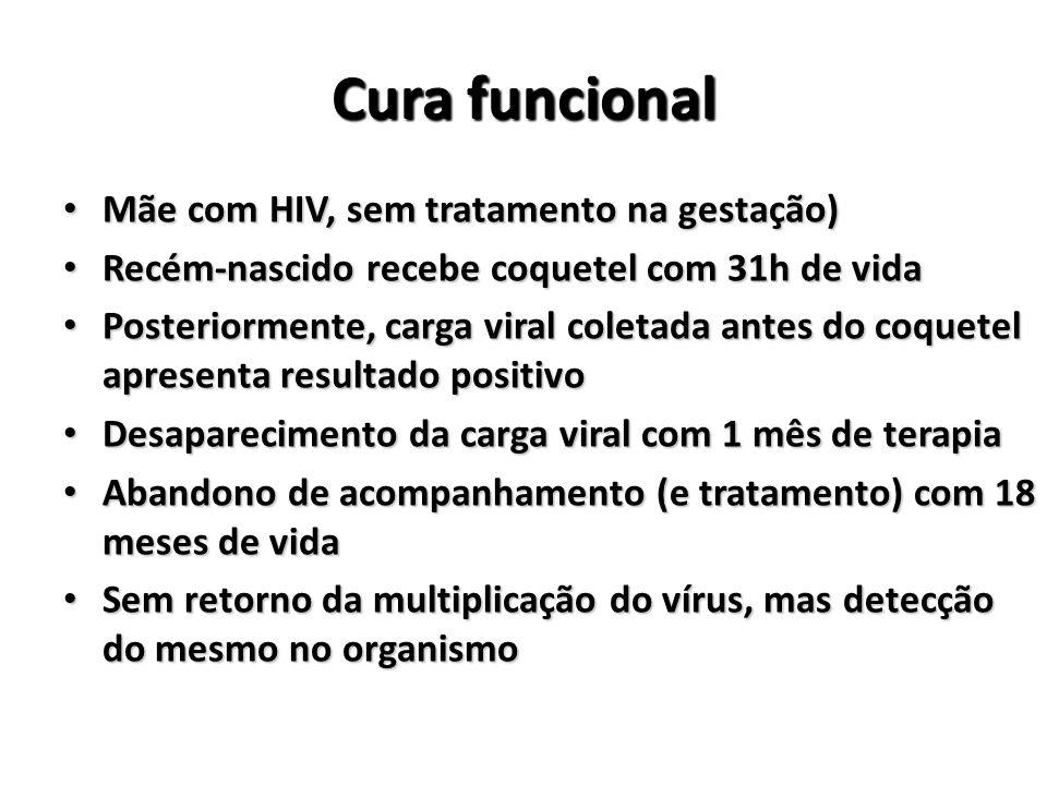 Cura funcional Mãe com HIV, sem tratamento na gestação)
