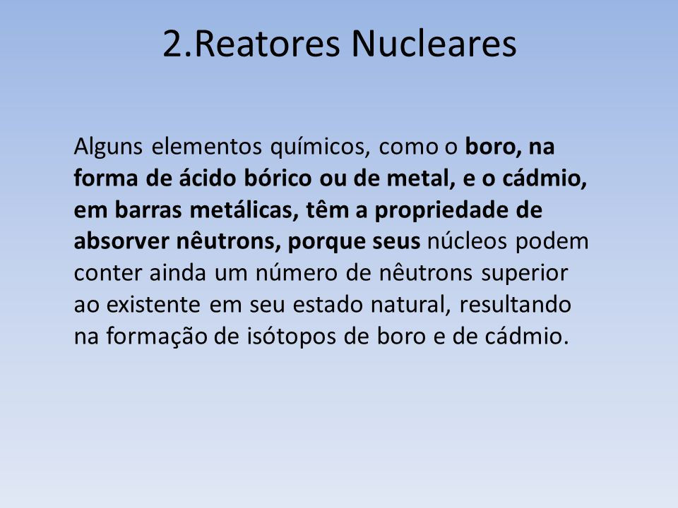 2.Reatores Nucleares