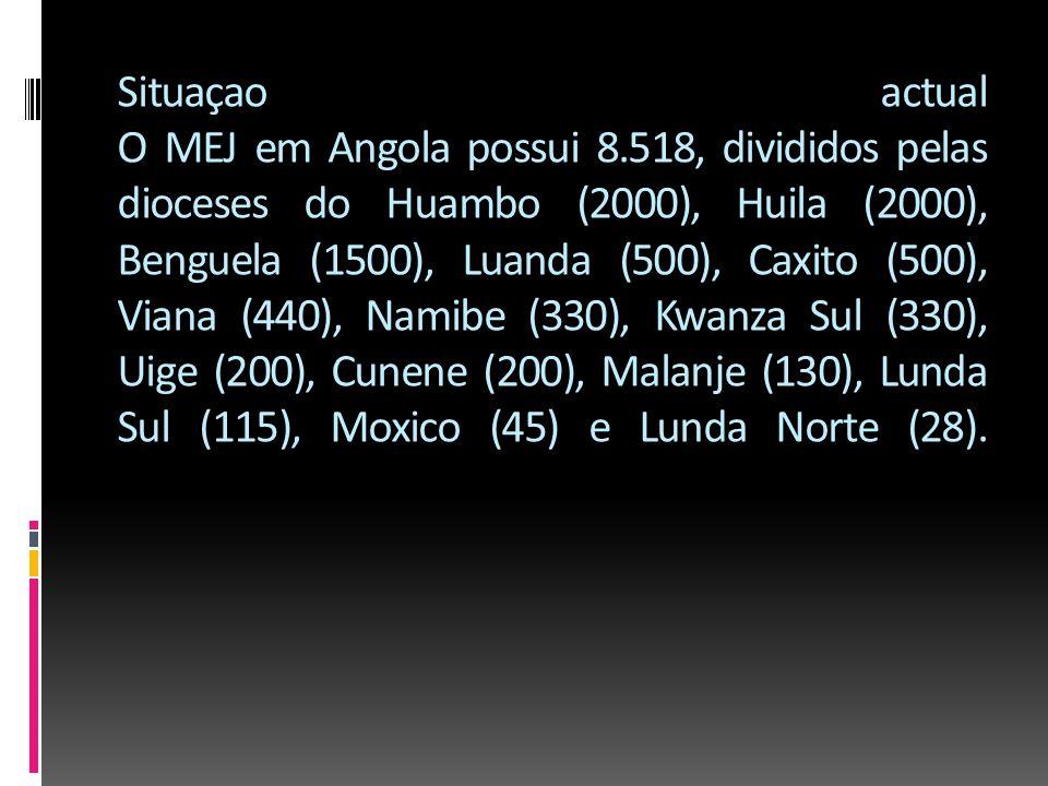 Situaçao actual O MEJ em Angola possui 8