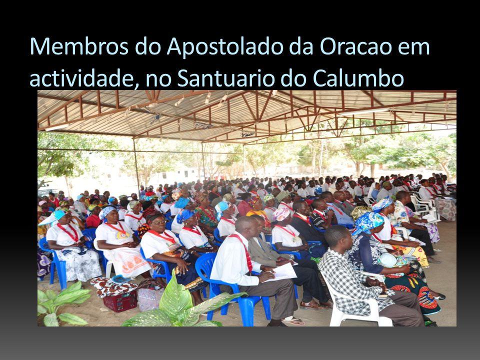 Membros do Apostolado da Oracao em actividade, no Santuario do Calumbo