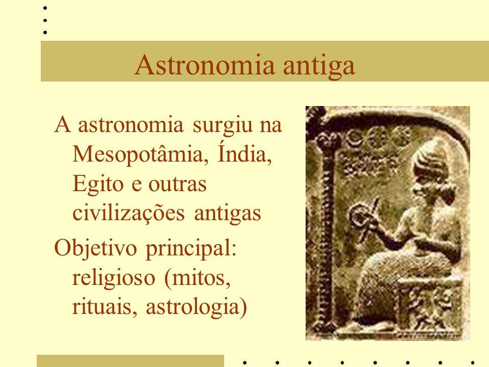 Astronomia antiga A astronomia surgiu na Mesopotâmia, Índia, Egito e outras civilizações antigas.