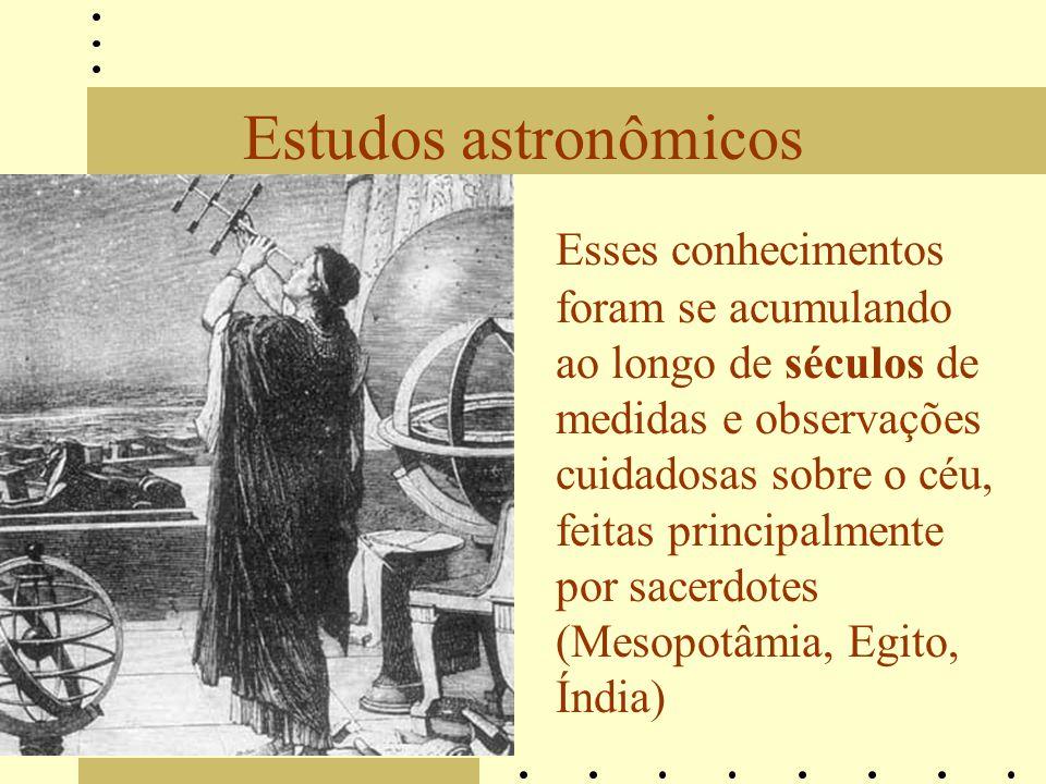 Estudos astronômicos