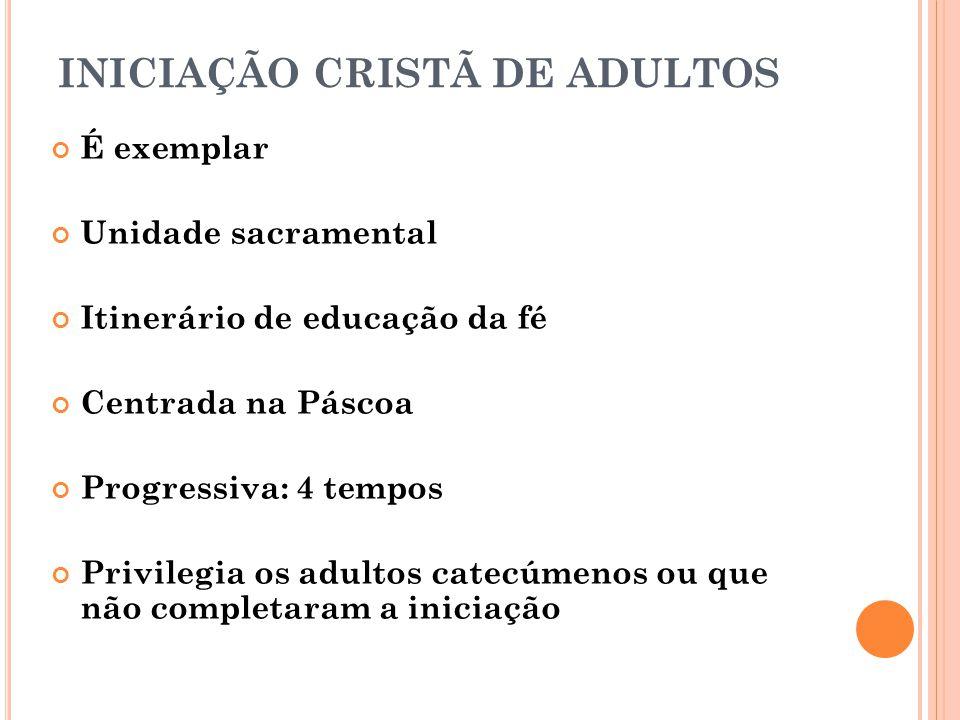 INICIAÇÃO CRISTÃ DE ADULTOS