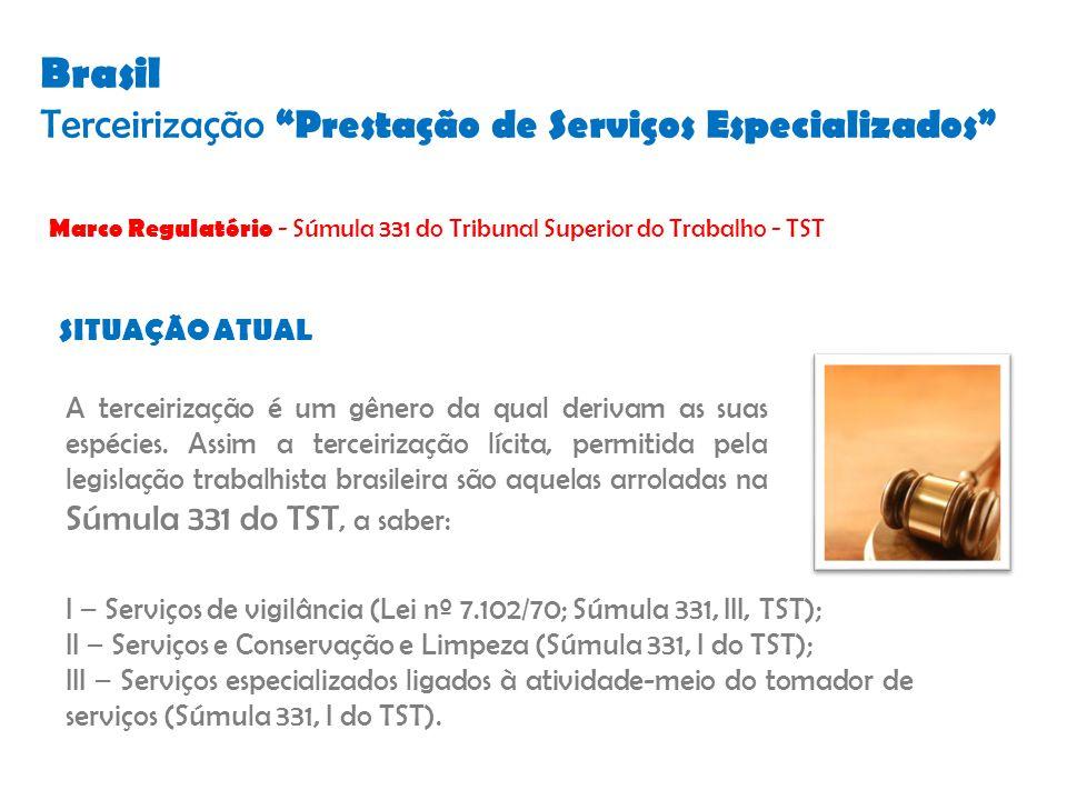 Brasil Terceirização Prestação de Serviços Especializados
