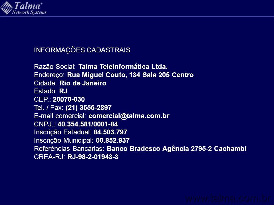 www.talma.com.br INFORMAÇÕES CADASTRAIS