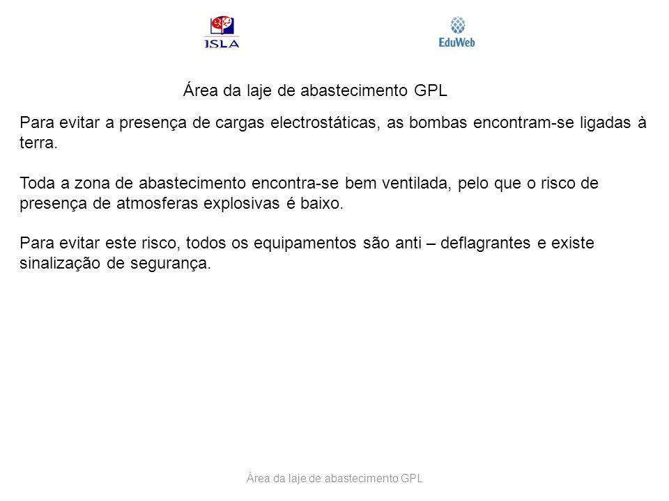 Área da laje de abastecimento GPL
