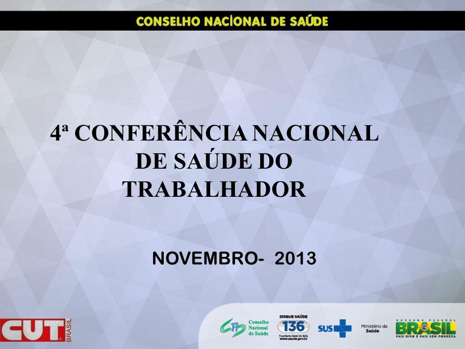 4ª CONFERÊNCIA NACIONAL DE SAÚDE DO TRABALHADOR