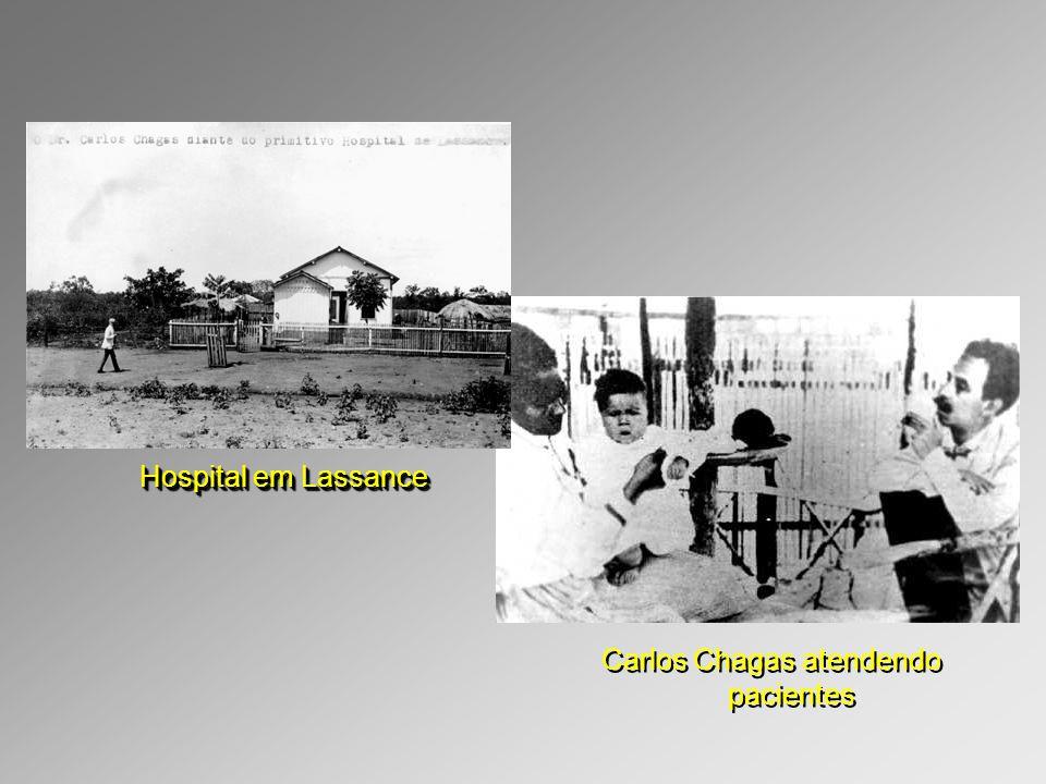 Carlos Chagas atendendo pacientes
