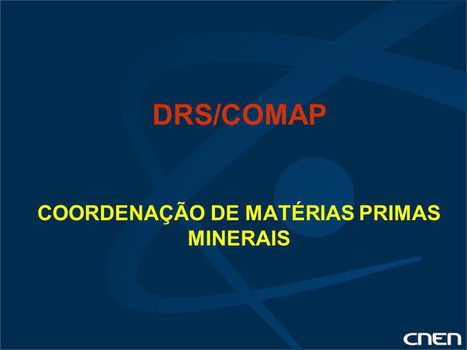 COORDENAÇÃO DE MATÉRIAS PRIMAS MINERAIS