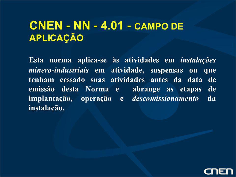 CNEN - NN - 4.01 - CAMPO DE APLICAÇÃO