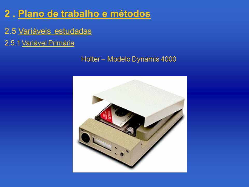 Holter – Modelo Dynamis 4000
