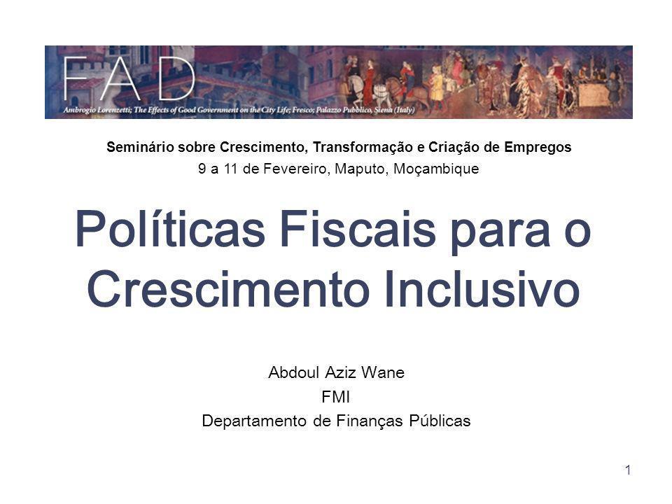 Políticas Fiscais para o Crescimento Inclusivo