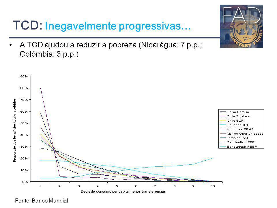 TCD: Inegavelmente progressivas…