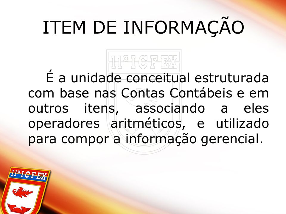 ITEM DE INFORMAÇÃO