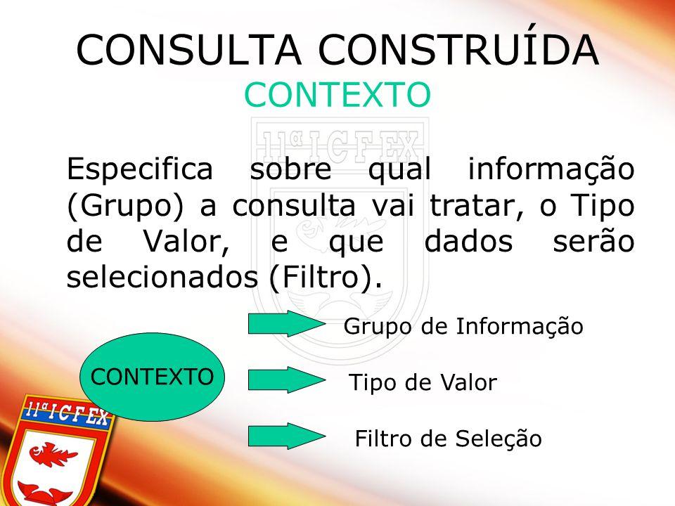 CONSULTA CONSTRUÍDA CONTEXTO
