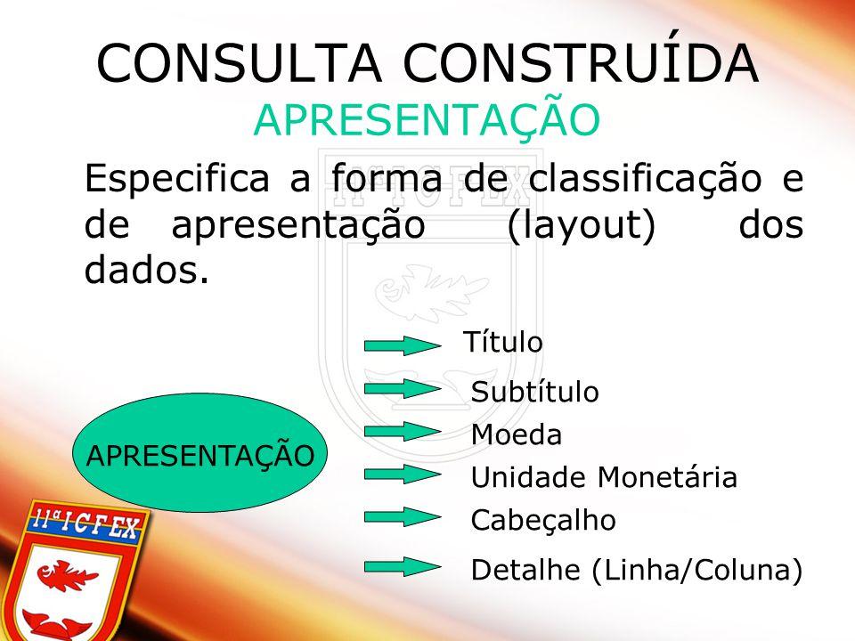 CONSULTA CONSTRUÍDA APRESENTAÇÃO