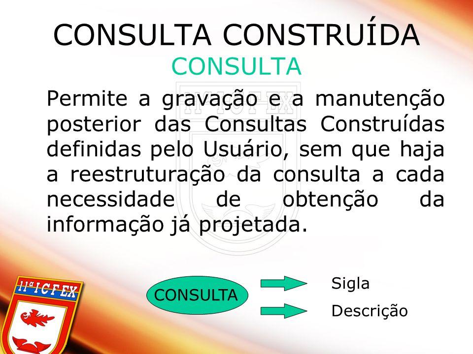 CONSULTA CONSTRUÍDA CONSULTA
