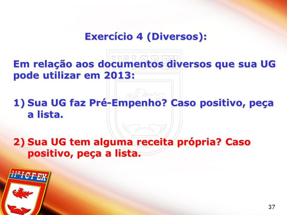 Exercício 4 (Diversos):