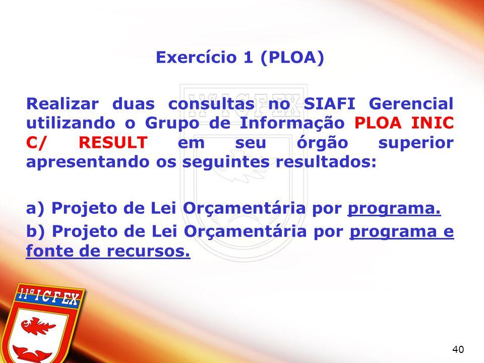 Exercício 1 (PLOA)