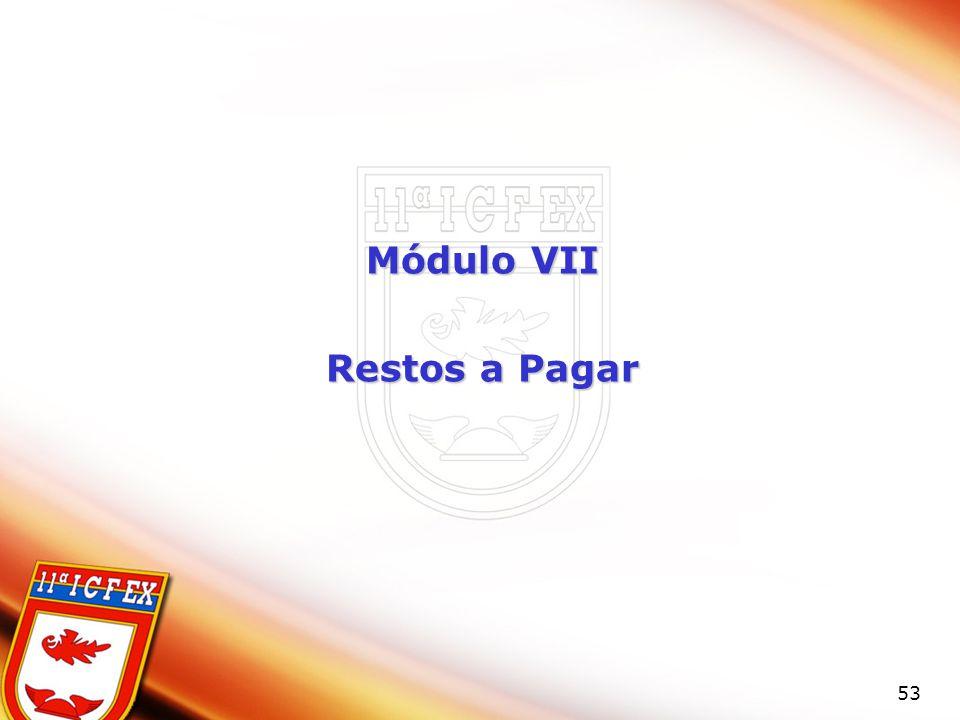 Módulo VII Restos a Pagar