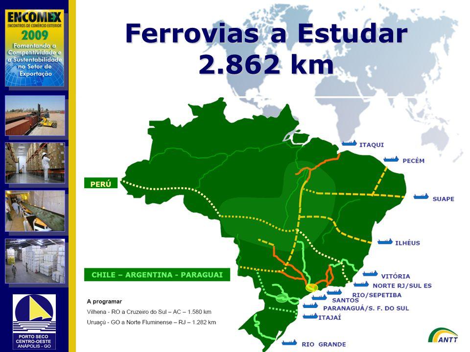 Ferrovias a Estudar 2.862 km