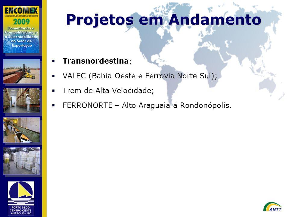 Projetos em Andamento Transnordestina;
