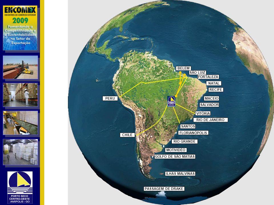 BELEM SÃO LUIZ. FORTALEZA. NATAL. RECIFE. PERU. MACEIO. SALVADOR. VITÓRIA. RIO DE JANEIRO. SANTOS.