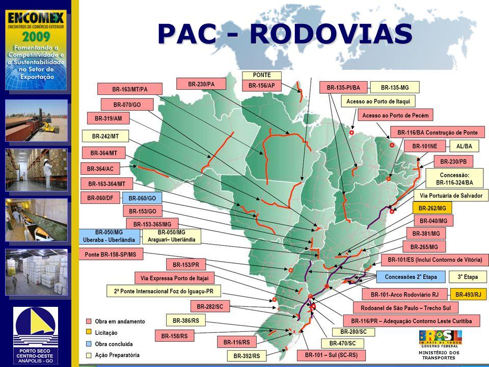PAC - RODOVIAS MINISTÉRIO DOS TRANSPORTES