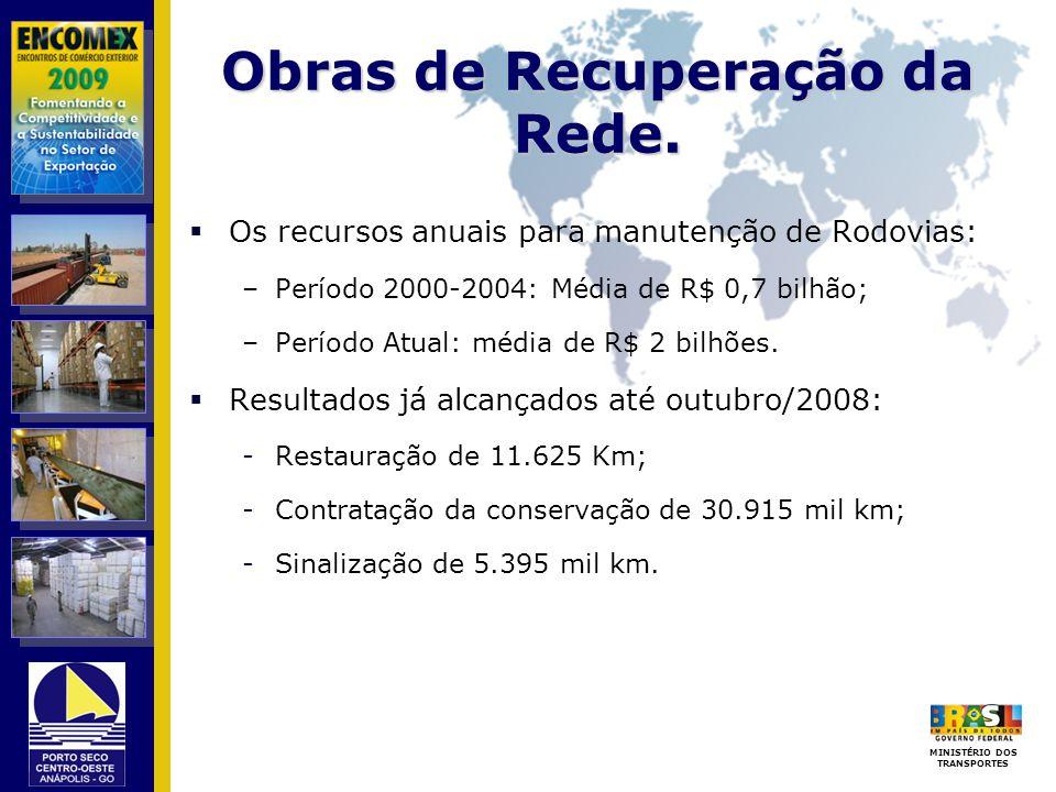 Obras de Recuperação da Rede.