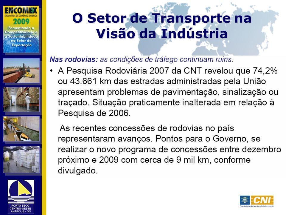 O Setor de Transporte na Visão da Indústria