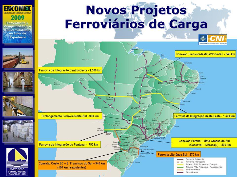 Novos Projetos Ferroviários de Carga