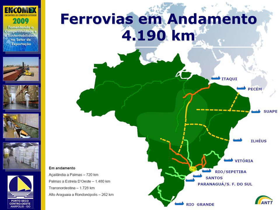 Ferrovias em Andamento 4.190 km