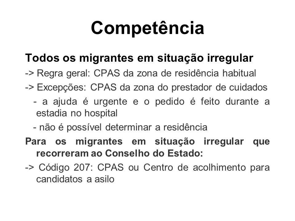 Competência Todos os migrantes em situação irregular