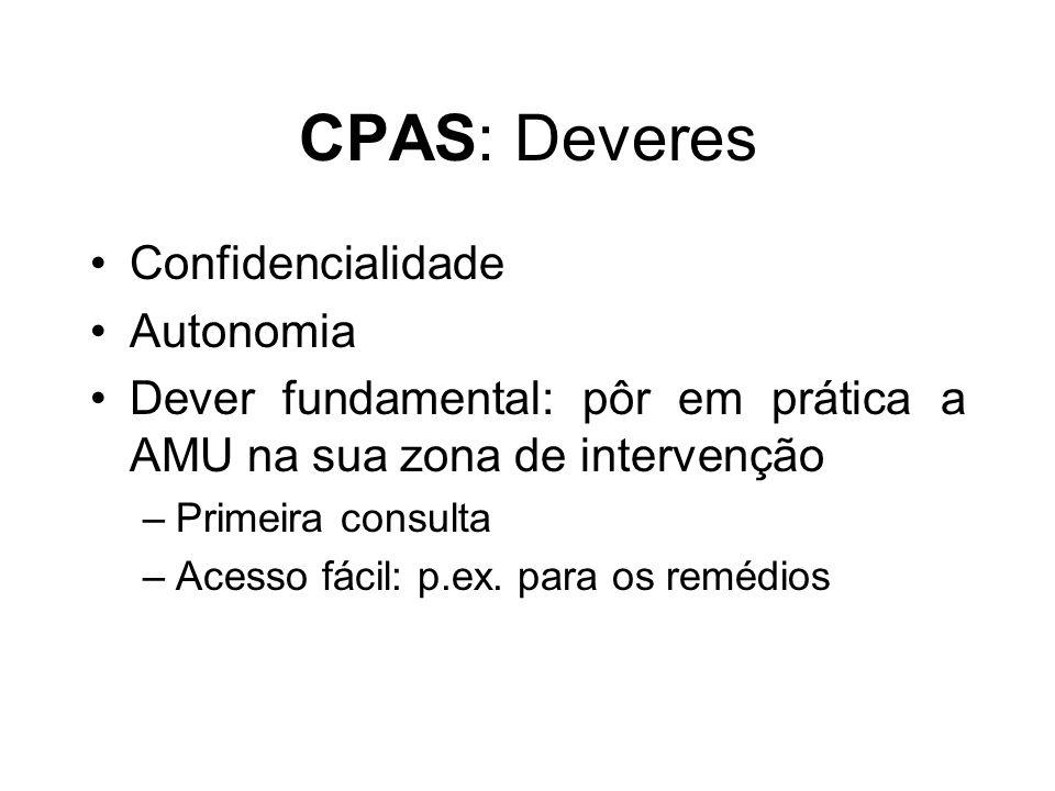 CPAS: Deveres Confidencialidade Autonomia